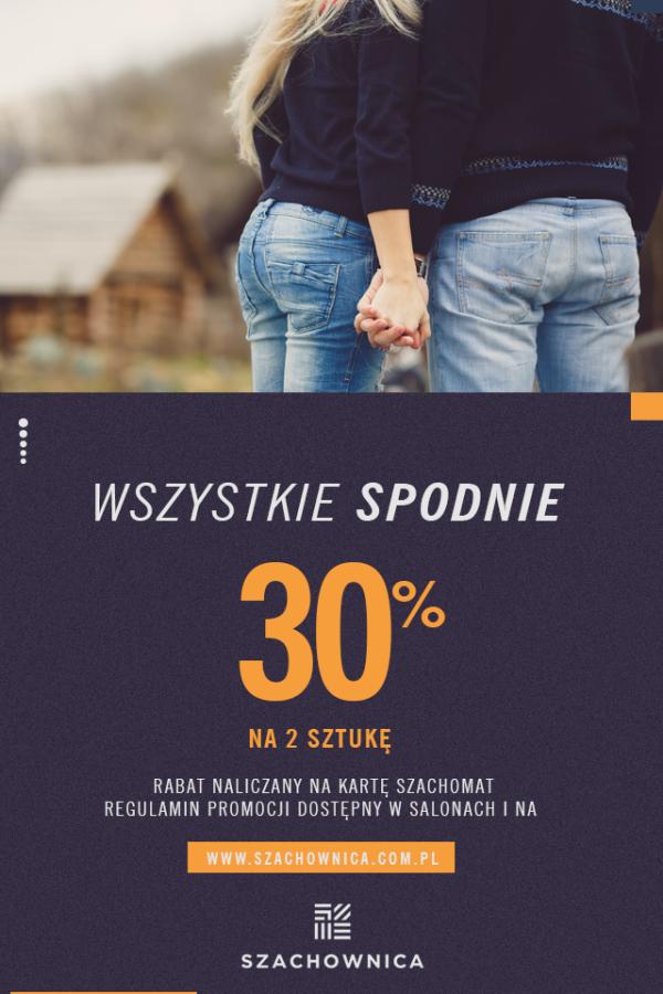 Promocje 2018 szachownica spodnie Centrum Handlowe